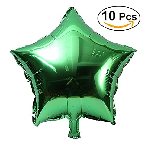TOYMYTOY Five-Point Star Foil Balloons for Party Decoration,Green,18