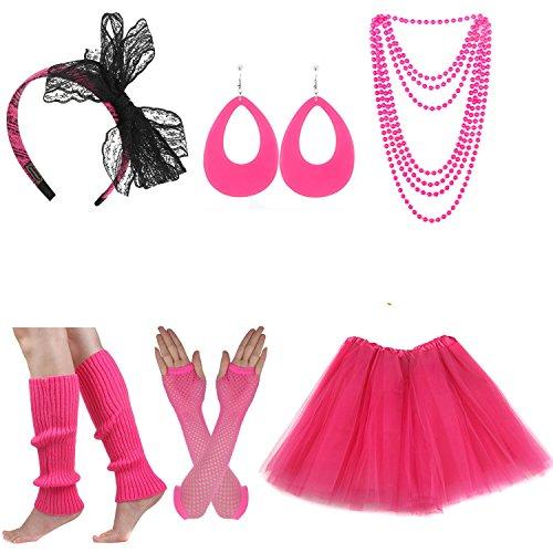 ECOSCO Women's 80s Costume Acces...