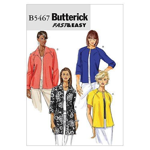 Butterick Patterns B5467 Misses'/Misses' Petite Jacket, Size BB (8-10-12-14) by BUTTERICK PATTERNS