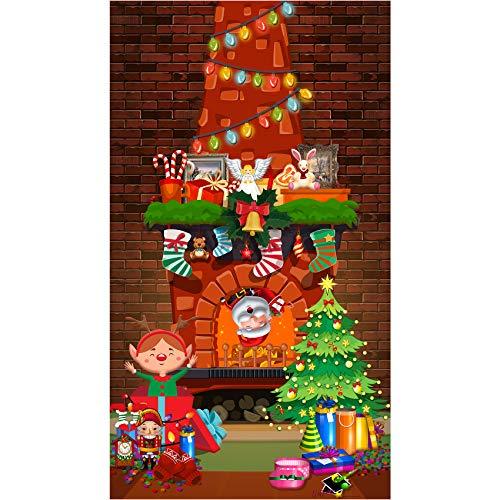 musykrafties Navidad Pared Escena Setters Chimenea Mantel Fondo fotografía Fondo