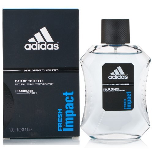 Fresh Impact Eau De Toilette Spray for Men by Adidas , 3.4 oz