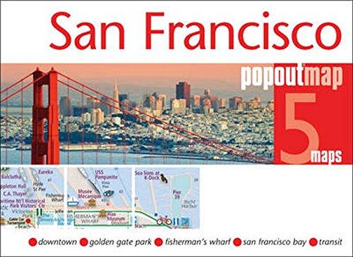 San Francisco PopOut Map, 5 maps (Popout Maps)