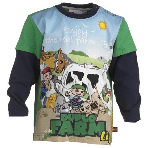 Lego Wear Baby - Jungen Sweatshirt 13981 TINO 801 - T-SHIRT L/S, Gr. 98, Grün (862 GRASS GREEN)