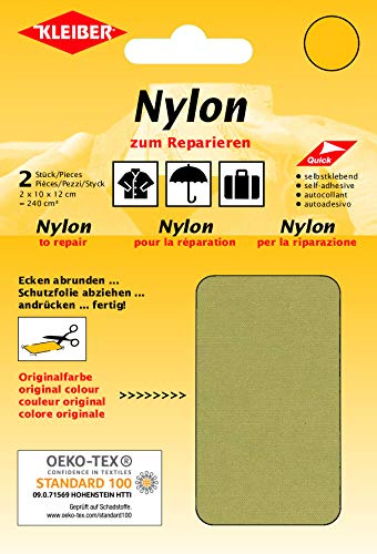Kleiber Selbstklebende, wasserdichte Ausbesserungsflicken aus Nylon, Beige