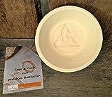 Gärkorb Gärkörbchen Holzschliff rund für 1,0 kg Brote mit Bodenmuster Celtic, inkl. Info perfekt Brot backen