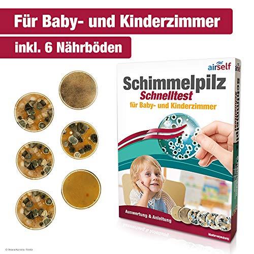 Schimmeltest für Baby- und Kinderzimmer - Schimmel Test zur Bestimmung der Schimmelpilzbelastung in der Luft -
