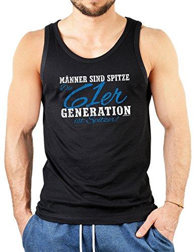 Männertop Geschenk zum 55. Geburtstag 61er Generation ist spitzer! Herrentops für Männer Tops zum 55 Geburtstag 55 Jahre Geburtstagsgeschenk Schwarz