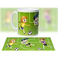 Tasse mit Motiv Fußball - Mädchen - Sport / Keramik optional mit Wunschname / personalisierbar - tolles Geschenk - Geburtstaggeschenk