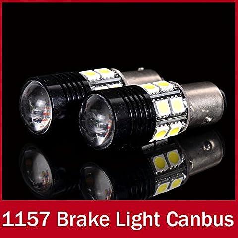 rexul (TM) 2x 1157BAY15D P21/5W LED bombilla 12V Automóvil Coche Lámpara CREE proyector óptico emisor + 12SMD copias de seguridad de reserva luz de