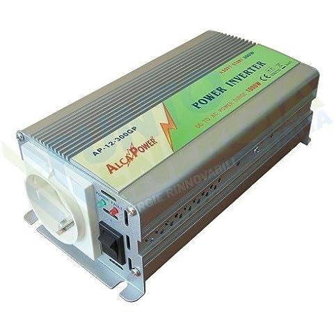 Inverter 300W 12V Onda Modificata AlcaPower Fotovoltaico Casa Baita Stand-Alone