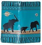 Shagwear Junge-Damen Geldbörse, Large Purse: Verschiedene Farben und Designs: (Elefanten Safari Blaugrün/Elephant Safari)