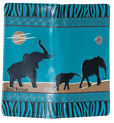 Shagwear - Monederos para mujeres jóvenes: Varios colores y diseños: (elefantes safari...