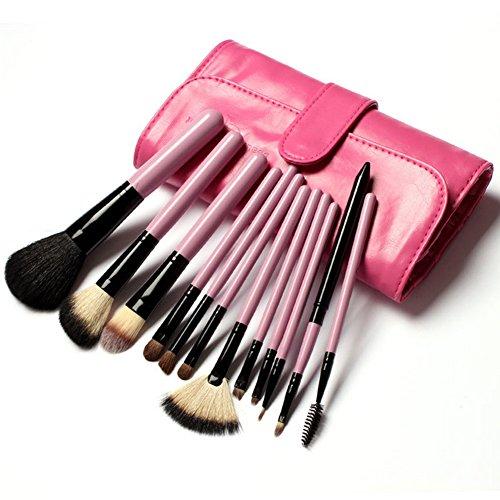 Cexin professionel 12 pinceaux maquillage exquis avec trousse pinceaux set