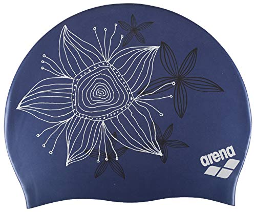 arena 91440-24-NS Sirene Molded Silicone Badekappe Handdraw/Blue