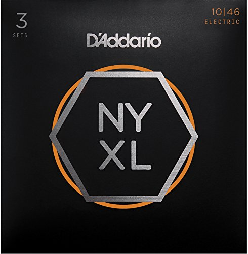 D'Addario NYXL1046-3P Nickel Wound E-Gitarre Saiten (Regular Light, 10-46, 3 Sets)