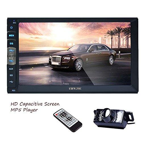 """8GB Carte Universal 2DIN voiture MP5 Dash Navigation GPS 7 """"LCD tactile numérique écran voiture stéréo HD 800 * 480 Autoradio Bluetooth FM Radio AM Receiver support MP3 / USB / caméra AUX Headunit Mirror Lien + Rearview gratuit"""