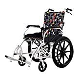 Shisky Aluminum alloy lightweight elderly wheelchairs Elderly manual portable trolleys Folding compact and easy to store