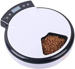0 ℃ Outdoor Fünf Mahlzeiten Automatische Pet Feeder, Verzichtet auf Katzen-und Hundefutter, Batteriebetriebene Digitaluhr, LCD-Bildschirm-Display