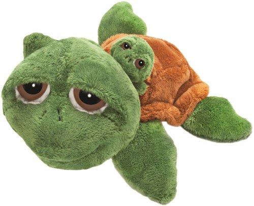Li\'l Peepers 14008 - Suki Stofftier Schildkröte Rocky mit Baby, 29.2 cm, grün