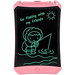 HUIXIANG Tableta de Escritura LCD 8.5 Pulgadas con Bloqueo, más Brillante eWriters LCD Tablero de Dibujo Digital Magica LCD Gráfica Electrónica, Niños 3/4/5/6/8/10 Años Niñas, (Rosado)