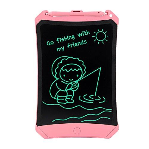 HUIXIANG Schreibtafel LCD Writing Tablet 8,5 Zoll mit Schloss Bunte Elektronischer Notizblock Schreiben Tablette Digitaler Drawing Pad Grafiktablet Kinder Junge Mädchen (Rosa)