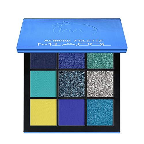 99L'amour 9 Couleurs Fard à paupières Shimmer Mate Palette Cosmétiques Brush Set de Maquillage,cosmétique Scintillement Matte Ombre palettes Eye Maquillage Ensembl