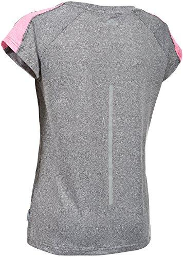 Trespass Oko T-Shirt de Sport Femme Gris Fumée Chiné