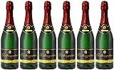 Rotkäppchen Sekt Flaschengärung Chardonnay Extra trocken 6 x 0,75l - Premiumsekt aus edlen Weinen – zum Anstoßen/für besondere Anlässe/Geburtstag / als Geschenk