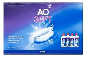 Aosept Plus Pflegemittel für weiche Kontaktlinsen, Systempack 4x 360 ml