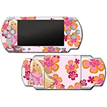 Barbie Doll Princess 70s Flower Power Retro Video Game Vinyl Decal Skin Sticker Cover for Sony PSP Playstation Portable Original Fat 1000 Series System by Vinyl Skin Designs