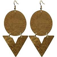 SouvNear Oro Pendenti Orecchini Coppia di doppio, Rotondo E a V–donna gioielli, regali per lei - Martellato Orecchini Di Stile