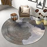 Teppich Persönlichkeit runden Teppich Wohnzimmer Yoga-Matten Schlafzimmer Nacht Teppiche Kinder Krabbeldecke Computer Stuhl Teppiche weich und bequem rutschfeste tragen und leicht zu reinigen