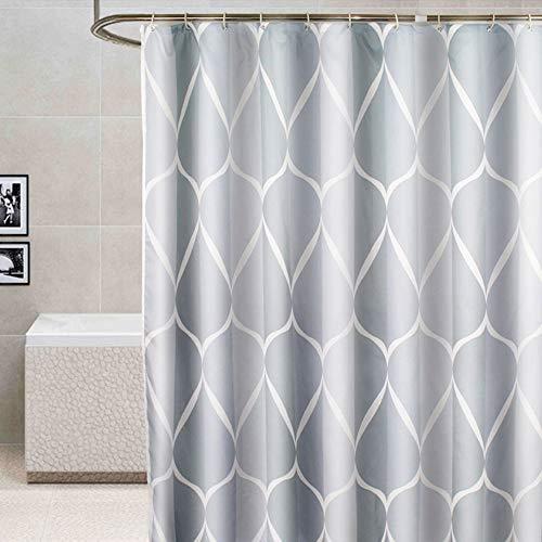 ufengke Duschvorhang Grau Chevron Mit 12 Haken, Polyester Wasserdicht Anti Schimmel Für Badezimmer,72