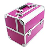 SRA Cases EN-AC-FC-B082-PK Make-Up, Cosmetic, Vanity Case with Fold Out Trays, 12.2 x 10.6 x 8.3, Pink by SRA Cases