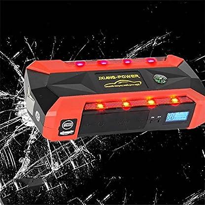 51sfgbptvAL. SS416  - WJJ- Car Jump Starter 600A Aumento máximo de 13600mAh Fuente de alimentación de emergencia Fuente de emergencia de arranque automático y luz de flash LED ultra brillante para SOS