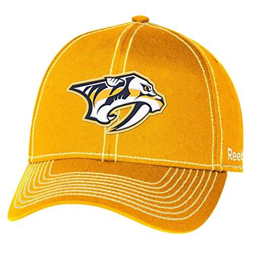 "Nashville Predators Reebok NHL ""High Stick"" Slouch Adjustable Hat Chapeau"