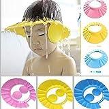 Weltime New Adjustable Safe Soft Bathing Baby Shower Cap Wash Hair For Children Baby Eye Ear Protector Adjustable Leaves Shape Bathing Shower/Shamoo Cap Hat Baby Shower Caps (Multicolor)