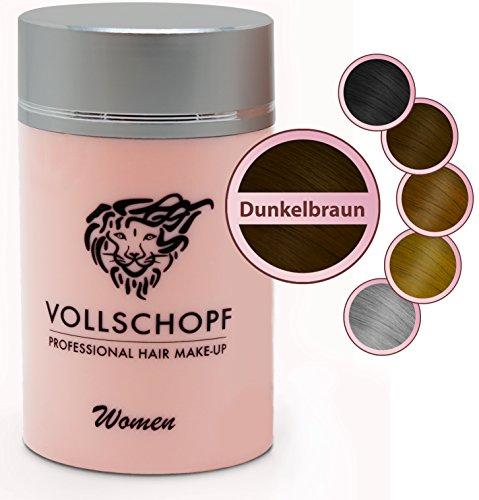 Vollschopf Hair Fibers speziell für Frauen - Schütthaar & Streuhaar bei weiblichem Haarausfall -...