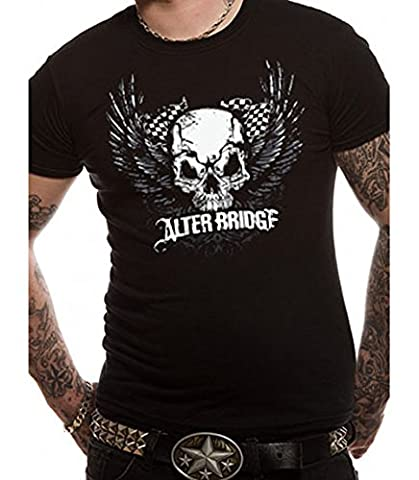Official Alter Bridge - Skull With Wings - Mens Black