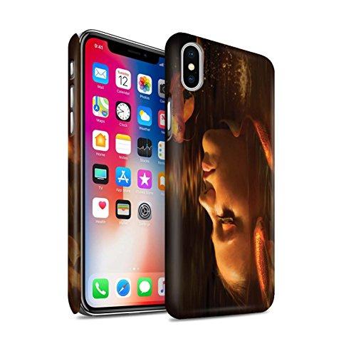 Offiziell Elena Dudina Hülle / Matte Snap-On Case für Apple iPhone X/10 / Sonrisas/Delphin Muster / Agua de Vida Kollektion Goldene Fische