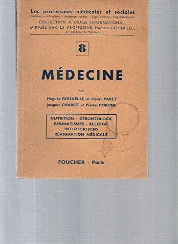Medecine n. 8 nutrition, gerontologie, rhumatismes, allergies