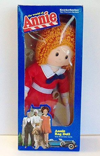little-orphan-annie-rag-doll-16-tall-w-removable-sandy-dog-the-world-of-annie-1982-knickerbocker-by-