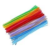 Sungpunet Steli di ciniglia, scovolini per pipa, lavoretti artistici, colori assortiti (6x 300mm, multicolore), 100pz.