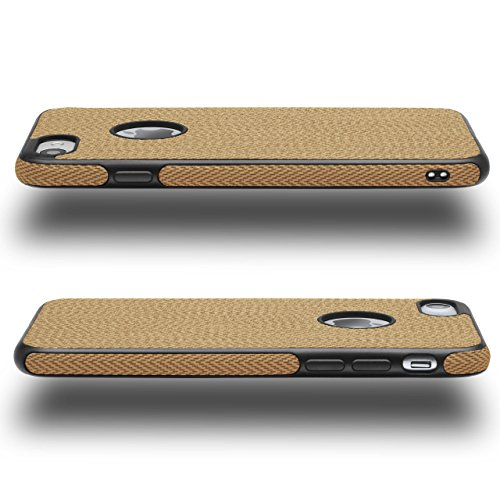 Chevron Case für iPhone 6 Plus / 6S Plus | OneFlow Schutzhülle aus Silikon und TPU | Zubehör Cover zum Handy Schutz | Handyhülle Bumper Tasche Textil Optik in Biscuit Avorio