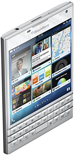 BlackBerry Passport Smartphone (11,4 cm Display, Nano-SIM, QWERTZ, 32 GB di memoria interna, 13 Megapixel fotocamera, BlackBerry OS 10,3) Bianco