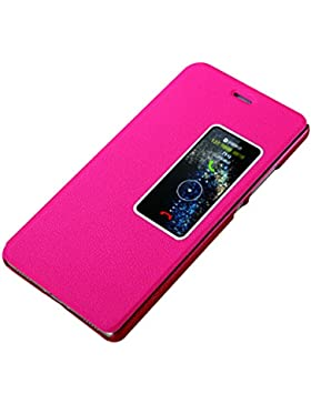 Huawei P8 2017 Custodia, P8 Cover Pu Pelle Portafoglio Bookstyle Flip Cover Stand Case con chiusa Magnetica Protettiva...