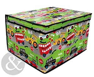 jumbo bo te de rangement pour enfant fille gar on meuble linge bo te transport vert rouge. Black Bedroom Furniture Sets. Home Design Ideas