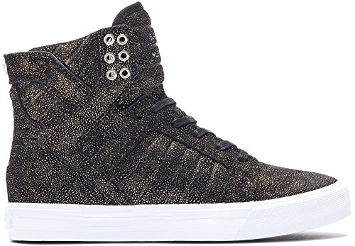 Supra Skytop Damen Hi Top Trainer (Probe) – Schwarz, Schwarz, 4.5 UK