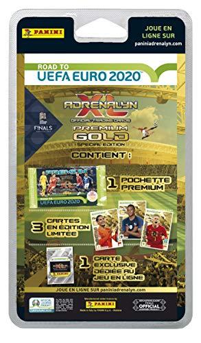 Panini France SA SA- 1 Pochette Premium Or ADRENALYN XL Road to UEFA Euro 2020TM, 2510-047