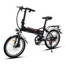 Lonlier Bicicleta Eléctrica de Montaña Bicicleta Plegable Rueda de 20 pulgadas 250W / 7 ...